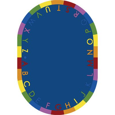 Educational Rainbow Alphabet Kids Rug Rug Size: Oval 7'8'' x 10'9'' by Joy Carpets
