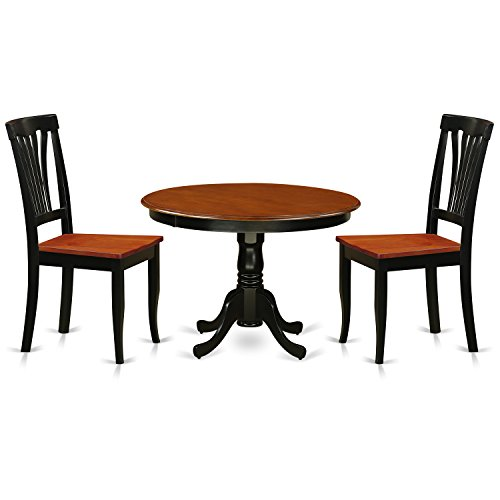 East West Furniture HLAV3-BCH-W 3 Piece Hartland Set, Black & Cherry