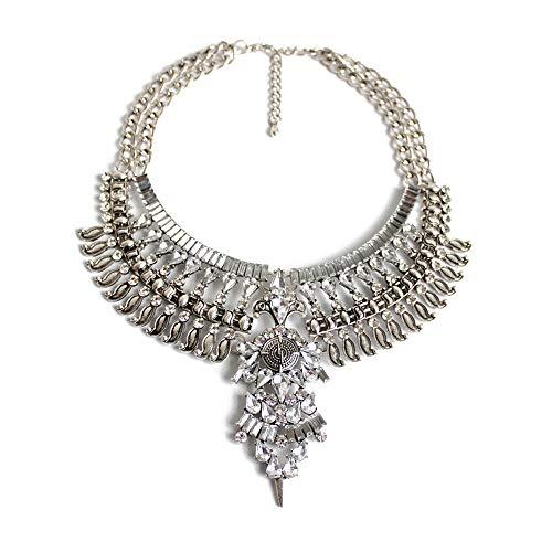 efigo Fashion Statement Necklace Choker Collar Bib Necklace Vintage Boho Costume Jewelry for Women ()