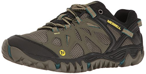 Merrell Men's All Out Blaze Aero Sport Hiking Shoe, Dusty Olive, 9 M US by Merrell
