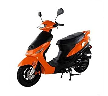 50cc gas street legal scooter taotao atm50 a1 orange  atm50 49cc scooter wiring diagram #7
