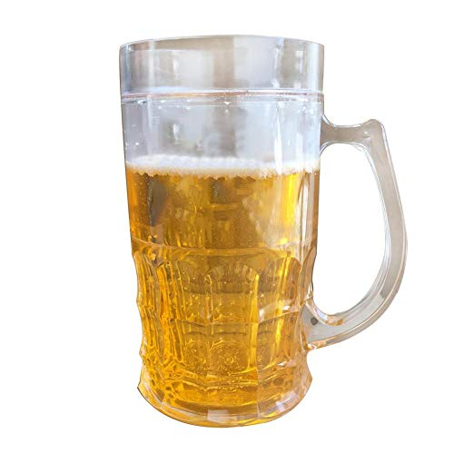 450ml Tricky Beer Mug Mezzanine Spoof Beer Mug, creative double interlayer summer town ice spoof fake beer mug