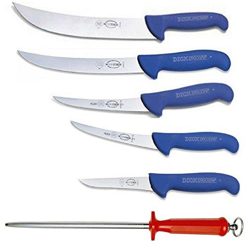 Breaking Knife 10 (F. Dick Ergogip Butcher's Knife Gift Set - Cimeter, Breaking, Boning Knives - With Bonus M.C. Cutlery German Made 10