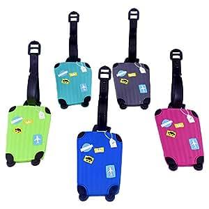 5pcs Etiquetas de Equipaje Etiqueta de Identificación de Equipaje Accesorio de Viaje (5pcs