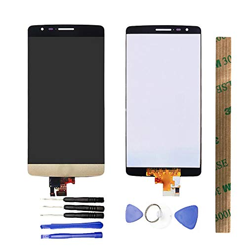 JayTong LCD Display & Replacement Touch Screen Digitizer Assembly with Free Tools for LG G3 Mini D722 D724 D725 D728 Gold (Lg G3 Replacement Screen Gold)