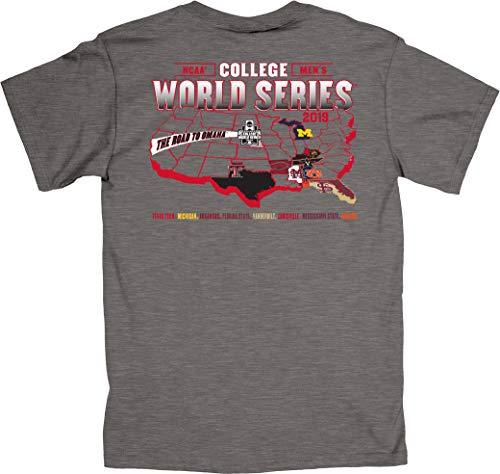 - Blue 84 2019 NCAA Men's College World Series CWS 8 Team Federation Gray T-Shirt (L)