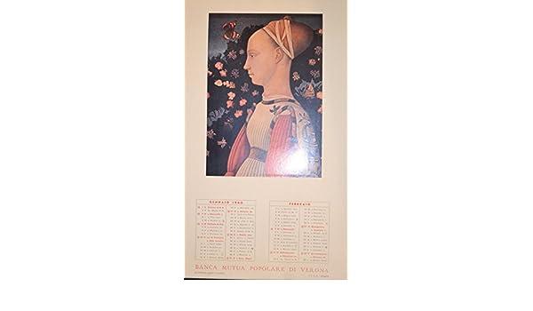 Calendario 1960.Calendario 1960 Calendario 1961 Banca Mutua Popolare Di