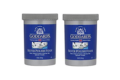 (Goddard's Silver Polish, 18 oz - Tarnish Remover With Sponge Applicator, Pack of 2)