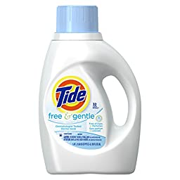 Tide 13885 50-Ounce Free & Gentle Laundry Detergent (Case of 6)