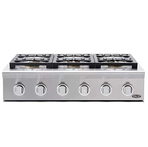 DCS Professional 36 In. Stainless Steel Pro-Style Liquid Propane Gas Rangetop - CPU366L - Module Cooktop Grill
