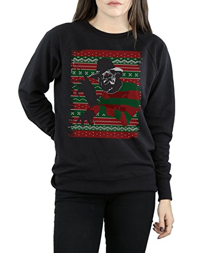 Femme Sweat Noir Christmas Street Elm Fair shirt On Isle Nightmare tvq6w0Tx