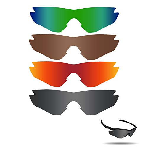 Fiskr Polarized Replacement Lenses for Oakley M2 Frame Sunglasses Polarized 4 - Lenses Without Frames Oakley