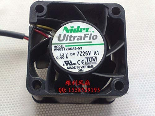 Original NIDEC UltraFlo W40S12BGA5-53 12V 0.40A 4CM 4028 40 40 28MM Cooling Fan