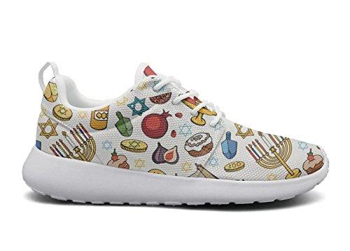 (AKDJDS Tisha B'Av hanukkah jewish menorah Running Shoe Fashion Sneaker Womens)