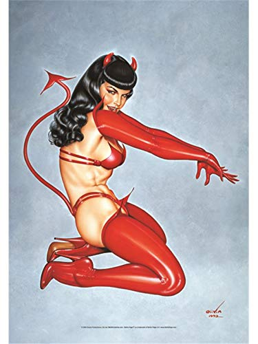 (Bioworld Betty Page Devil large fabric poster/flag 44