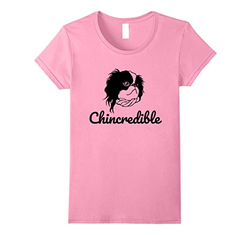 Womens Chincredible Japanese Chin Animal Dogs T-Shirt Large Pink