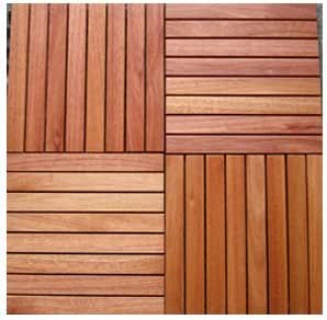 Amazon.com: Vifah Snapping Deck Tiles 8 Slat Straight