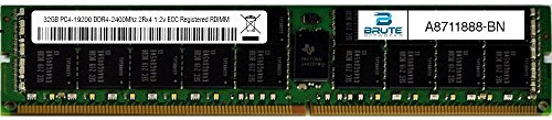 A8711888 - Dell Compatible 32GB PC4-19200 DDR4-2400Mhz 2Rx4 1.2v ECC Registered RDIMM by Brute Networks