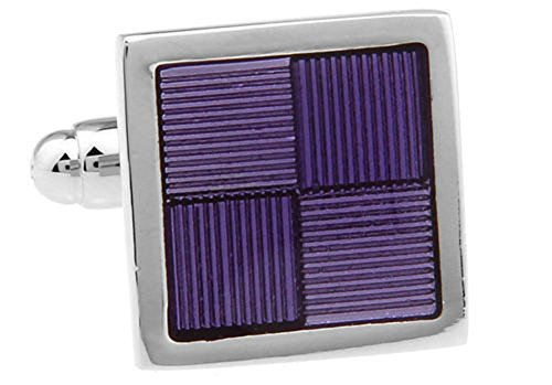 Men's Executive Cufflinks Reflections Four Square Framed Shades of Purple Cuff Links ()