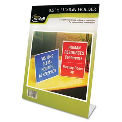- NUD35485Z - Clear Plastic Sign Holder