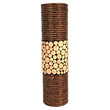 """Hosley's Natural Cylinder Floor Vase 20"""" High. Ideal Gift for Home, Weddings, Party, Spa, Meditation, Home Office"""
