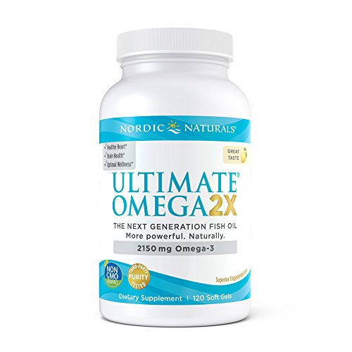 Nordic Naturals Ultimate Omega 2X - Extra Omega Supports for Heart, Brain, and Immune Health, 120 Soft Gels