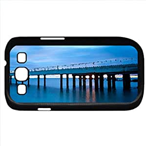 Blue (Sky Series) Watercolor style - Case Cover For Samsung Galaxy S3 i9300 (Black)
