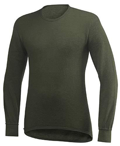Ullfrotté Noir Verde shirt Manche 200 Col T Woolpower Rond Longue Gr xtAqww1