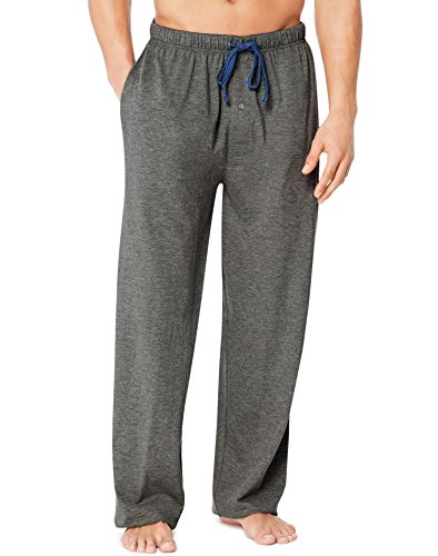 Lounge Gray Pants - Hanes X-Temp Men`s Jersey Pant with ComfortSoft Waistband Charcoal Heather