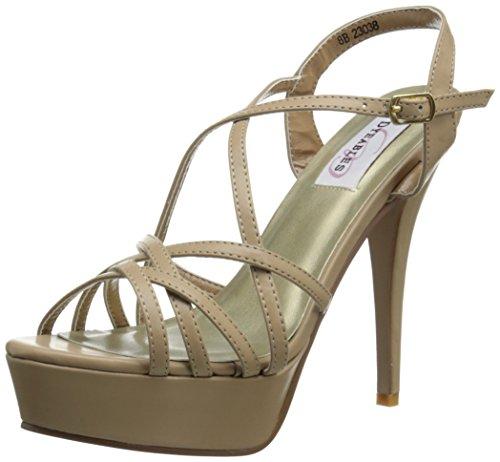 (Dyeables, Inc Women's Cali Platform Sandal, Taupe, 7 M US)