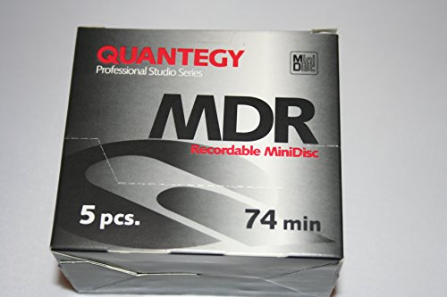 5 pack of Quantegy MDR recordable MiniDisc Professional Studio Series 74 min.