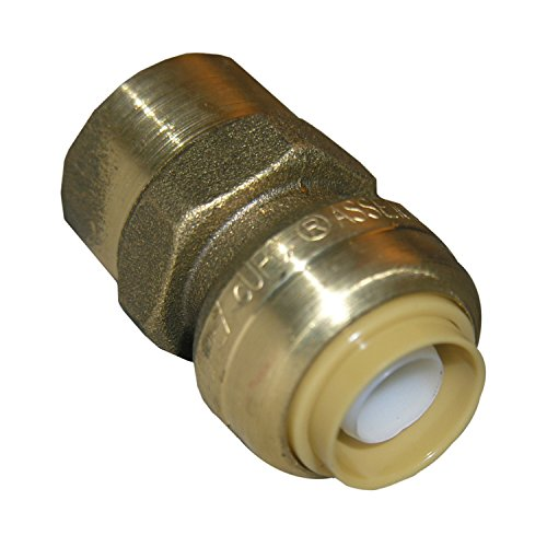 - LASCO 19-8024 Magnagrip, Lead Free Brass Push Fit Fitting, Use On PEX, CPVC or Copper Pipe, 5/8-Inch OD by 1/2-Inch Female Pipe Thread Adapter