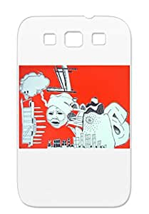 ShariPettis Collage Art Design Red Ladyfingers Shockproof Case For Sumsang Galaxy S3