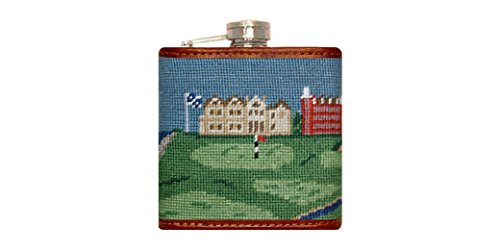 Smathers & Branson Old Course Scene Needlepoint Flask - Multi (Flask-92)