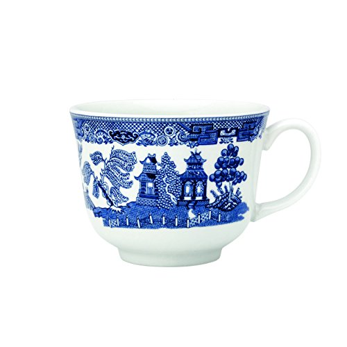 Blue Willow Cup - Johnson Brothers A1400501079 Willow Blue teacup, 7 oz, White