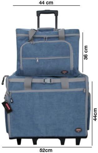 IDEAS Maleta Trolley Azul con clasificadores para máquina de Coser ...