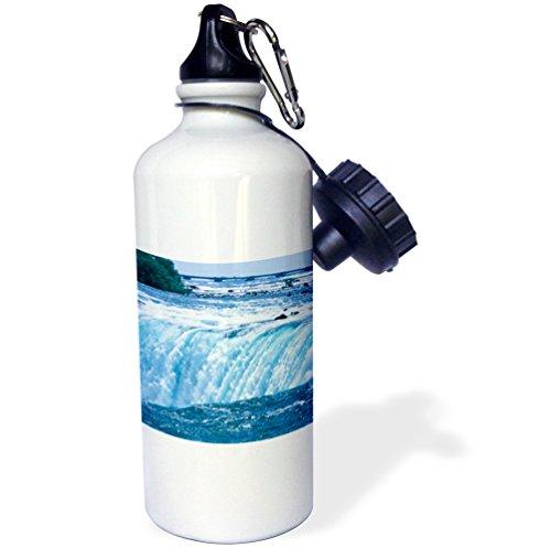 3dRose wb_74009_1 Canada, Niagara Falls, Horseshoe Falls-CN08 MGI0000-Mark Gibson Sports Water Bottle, 21 oz, White