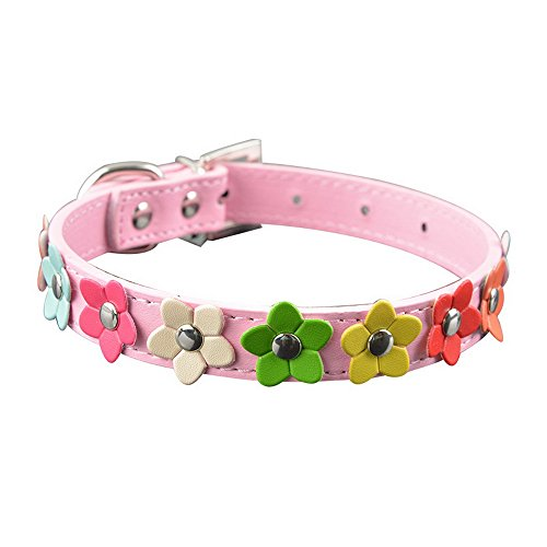 Puppy Studded Pet Leather Necklace Strap Cat Dog with 3 Collar R1wAWfUwT