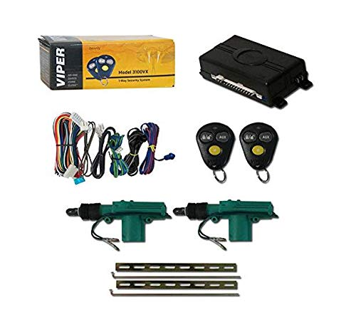 Viper 3100VX 1-Way Car Alarm System with 2 Remotes & Keyless Entry + Universal Door Lock Actuator 2 Wire (Best Car Alarm Systems)