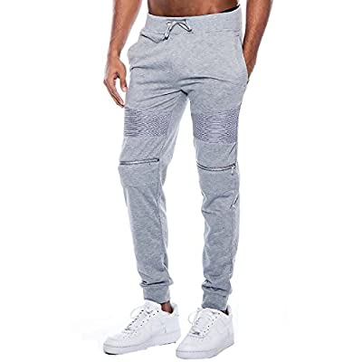 True Rock Men's Andre Faux Zippered Textured Panel Joggers at  Men's Clothing store