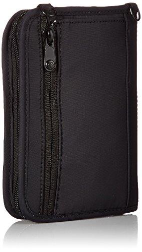 41VSpEp5a7L - Pacsafe Rfidsafe V150 Anti-Theft RFID Blocking Compact Passport Wallet, Black