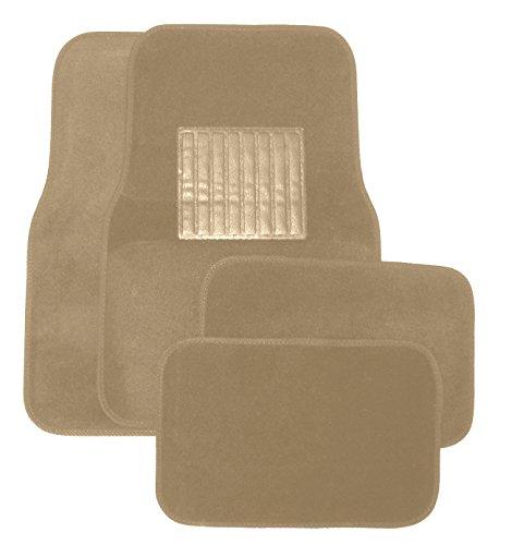Tan Universal Carpeted Floor Mats 4 Piece (Carpeted 4 Piece Mat)