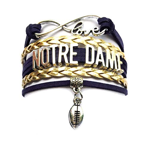 - DOLON Infinity Love Notre Dame Football Bracelet College Team Gift
