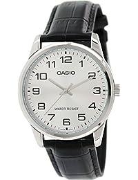 Casio Men's MTPV001L-7B Black Leather Quartz Watch