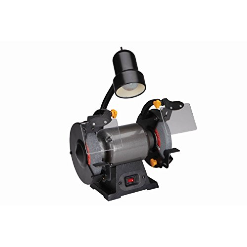 6 in. Bench Grinder with Gooseneck Lamp by Central Machinery