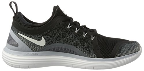 Nike Damen Free RN Distance 2 Laufschuhe Schwarz (Black/white Cool Grey Dark Grey)