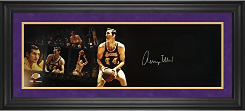 "Jerry West Los Angeles Lakers Framed Autographed 10"" x 30"" Filmstrip Photograph - Fanatics Authentic Certified by..."