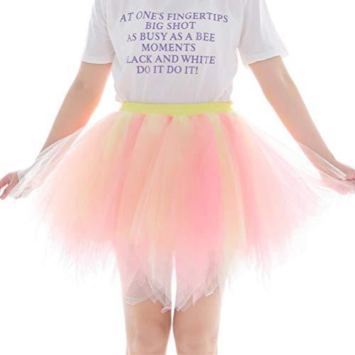 Couleur Irrgulier DE Tutu 50 Tutu en Jupe Orange Sixcup Couleurs varies Tulle Femme annes Tulle Style Jupe Court Courte Ballet Ballet en qxRXUH
