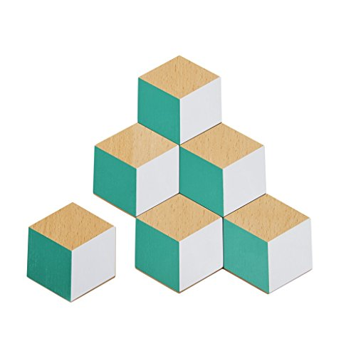 Areaware Table Tiles (Green/Gray)