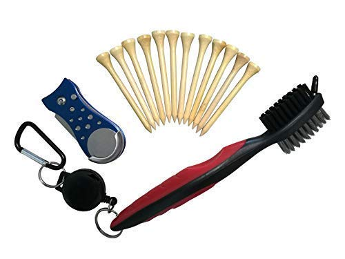 yamato Golf Tees, 2-3/4 Inch Premium Bamboo Golf Tees (250pack), Combo Pack Divot Tool and Club Cleaning Brush ...